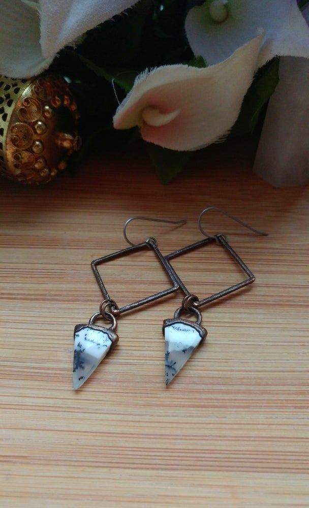 Image of Dendritic Agate Earrings