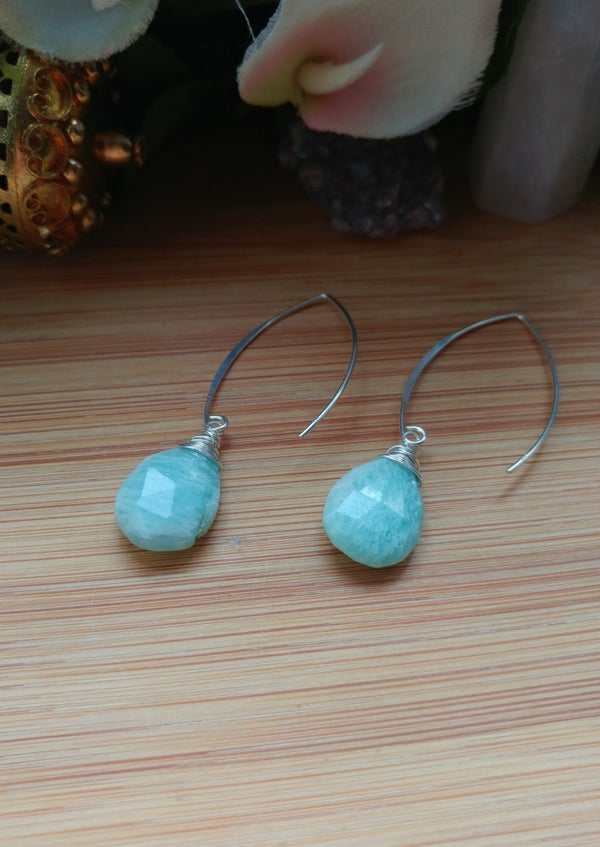 Image of Amazonite Sterling Silver Earrings