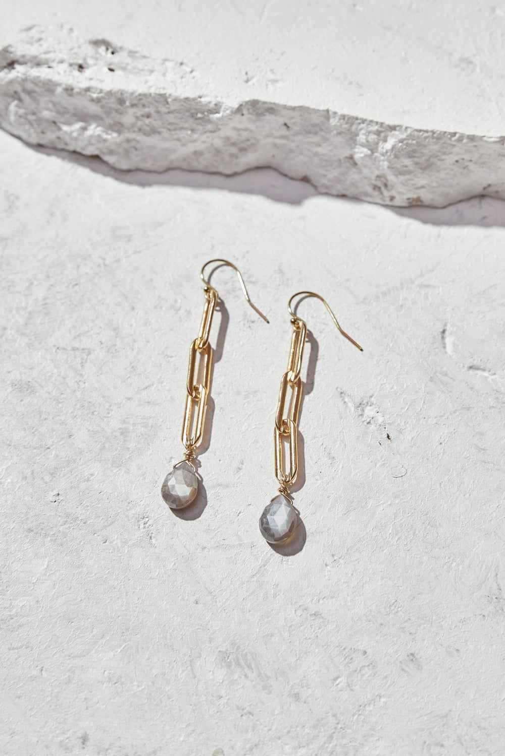 Image of Moonstone Earrings
