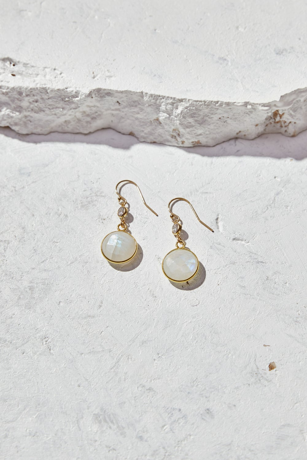 Image of Rainbow Moonstone Earrings