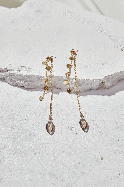 Image of Smoky Quartz Earrings
