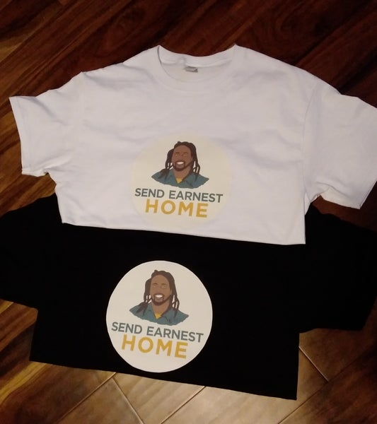 Image of REGULAR SIZE  SEND EARNEST HOME TSHIRT  CIRCLE PIC OR SQUARE  PIC