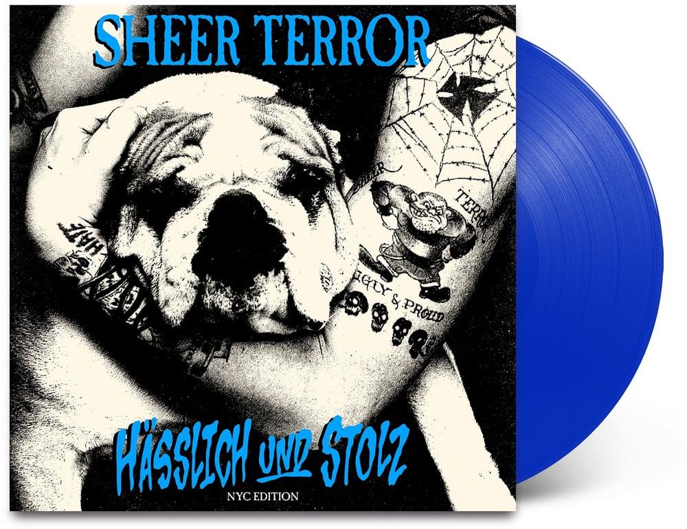 Image of Sheer Terror-Hasslich und Stolz LP NYC Edition transparent blue vinyl