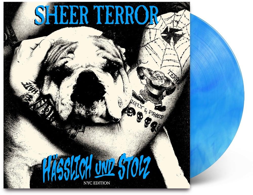 Image of Sheer Terror-Hasslich und Stolz LP NYC Edition blue vinyl pre-order