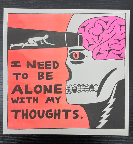 """Image of """"Alone With My Thoughts"""" Risograph Print *SET*"""