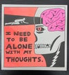 """""""Alone With My Thoughts"""" Risograph Print *SET*"""