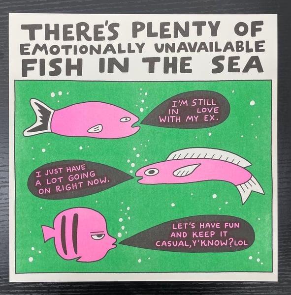 "Image of ""Fish in the Sea"" Risograph Print"