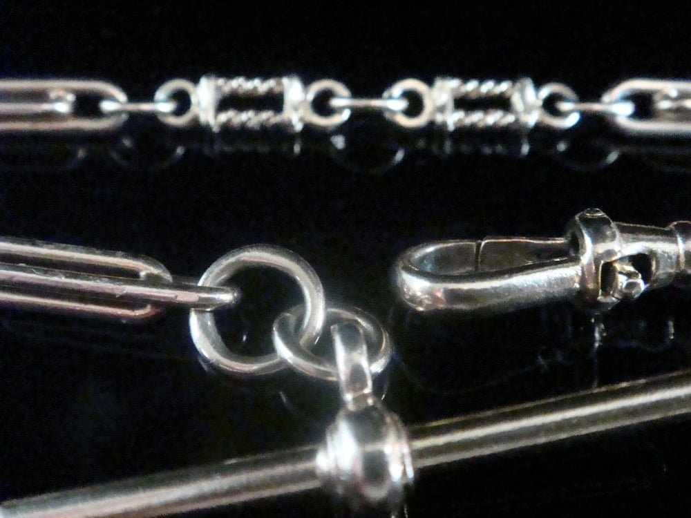 Image of VINTAGE 9CT YELLOW GOLD TROMBONE LOBSTER CLASP BRACELET 11.9G 7.5 INCHES