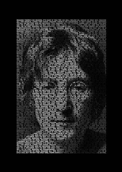 Image of John Lennon 'Imagine' Poster