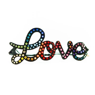Image of BONHEUR - Scritta LOVE Multicolor black