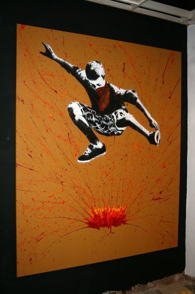"Image of ""Bomb It"" - Original Extra Large Canvas"