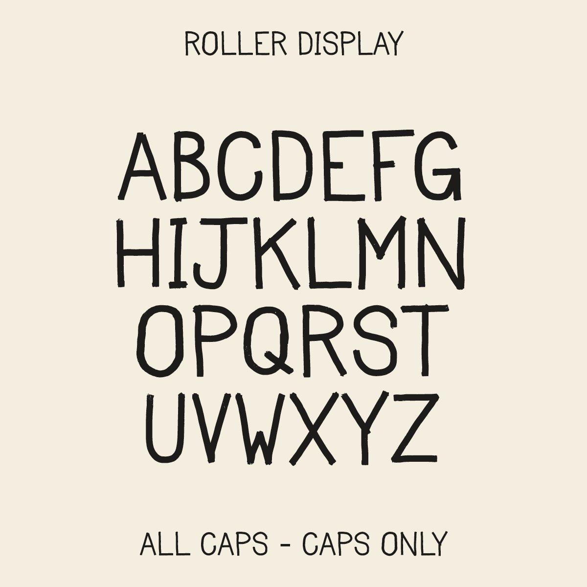 Image of Roller Display - Font