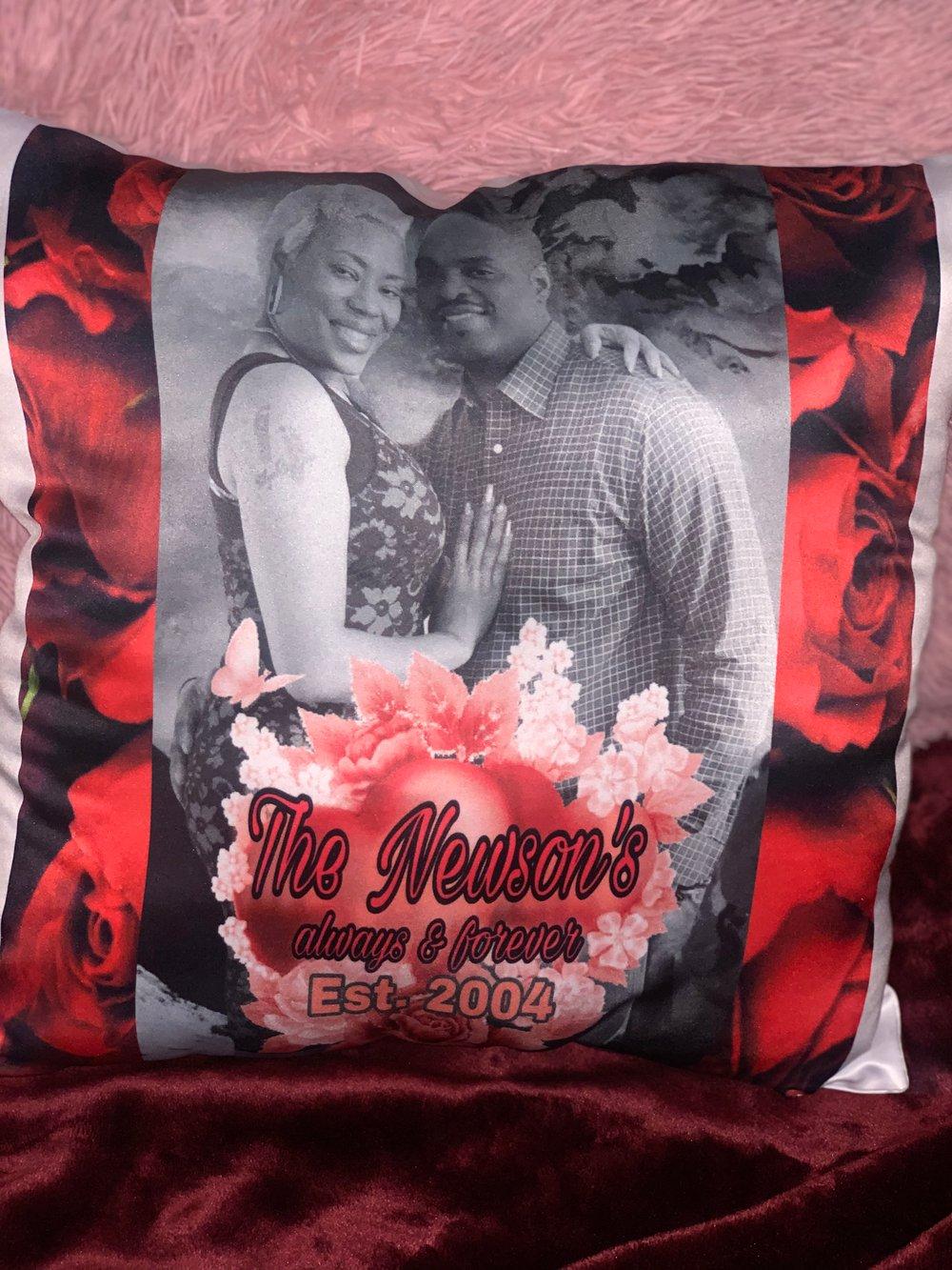 Image of Hug me knot memory pillows