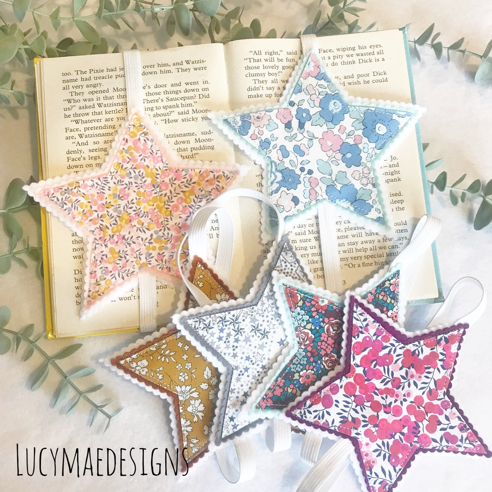 Image of Liberty Fabric Star Bookmarks