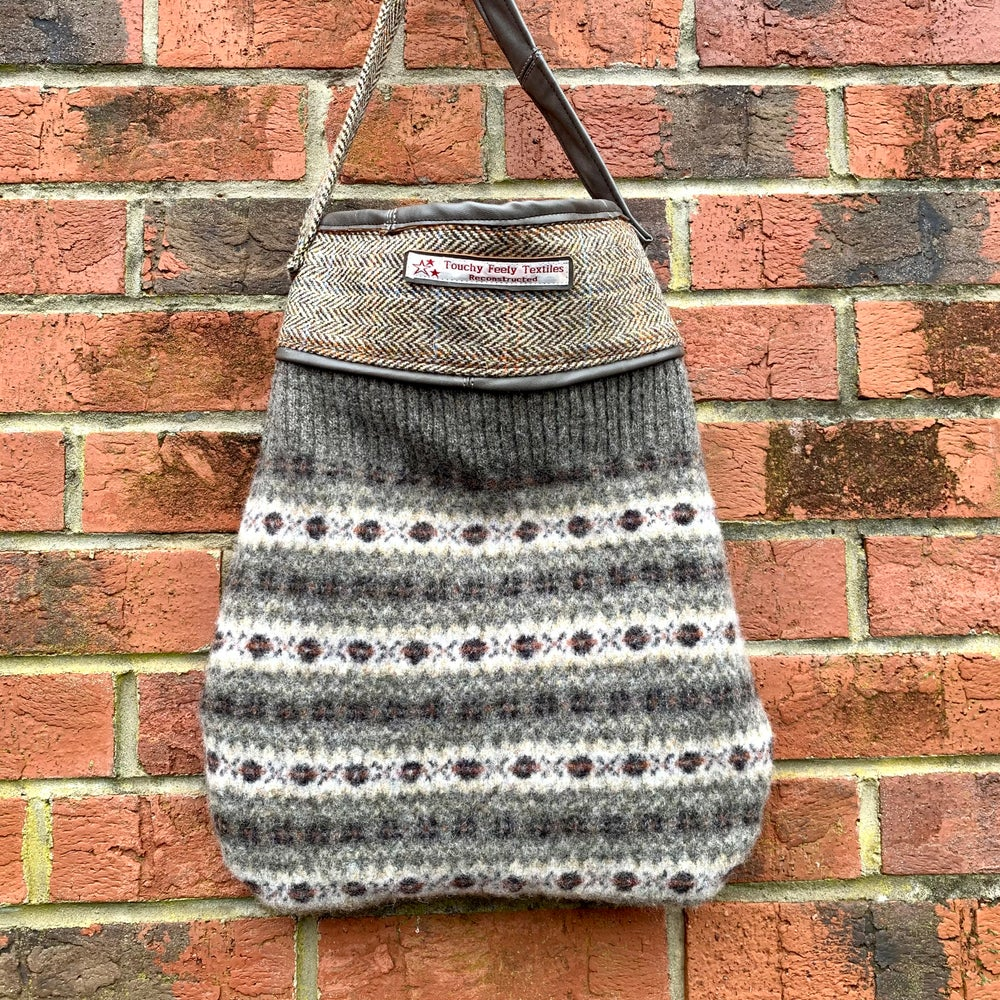 Image of Upcycled shrunken jumper bag