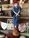 Lil' Rosie the Riveter Rag doll