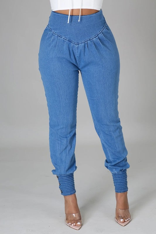 Image of Denim Joggers