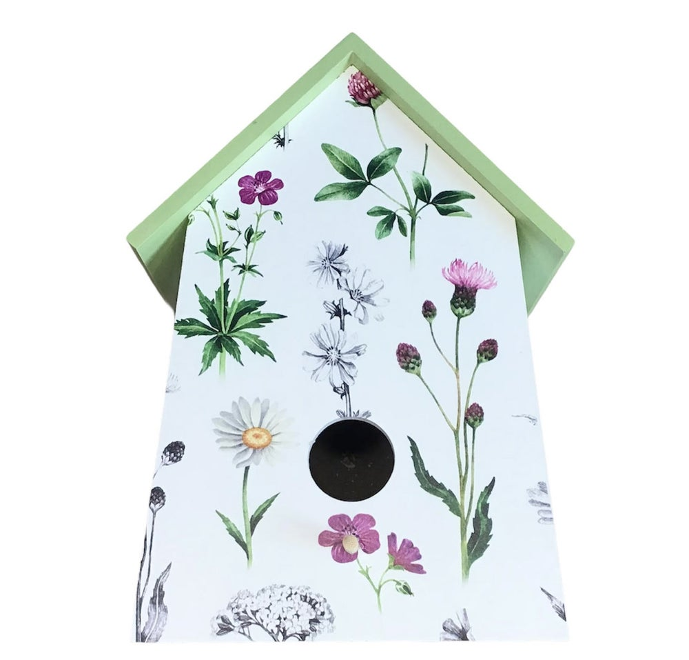 Image of Botanical print birdhouses in 3 designs