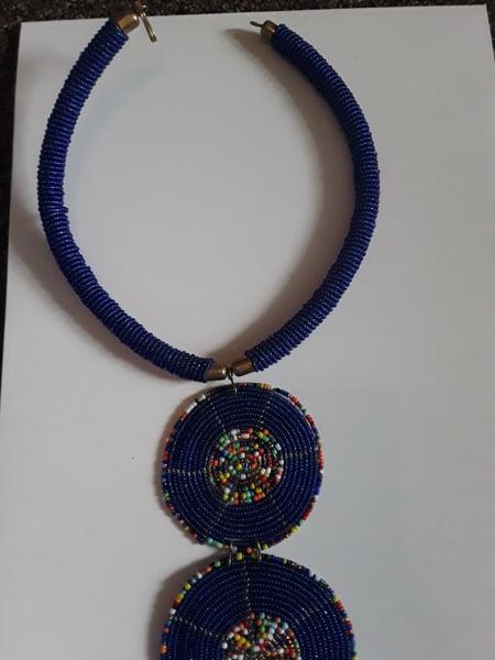 Image of Blue Zulu Necklace