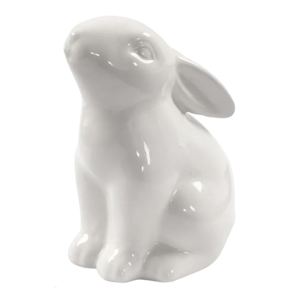 Image of White Ceramic Easter Bunny