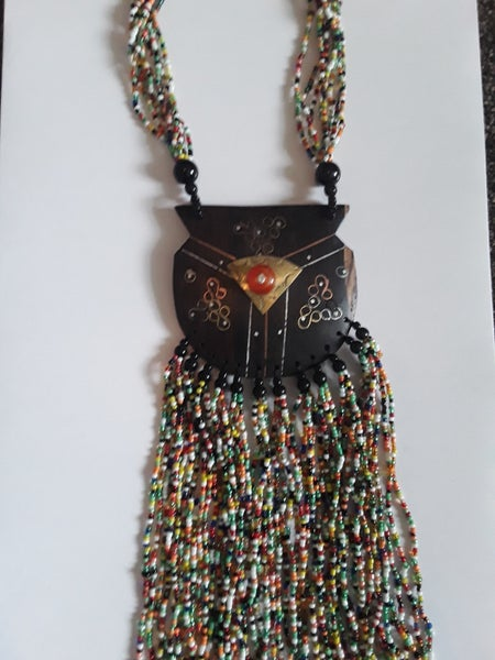 Image of Senegalese Wood and Bead Necklace