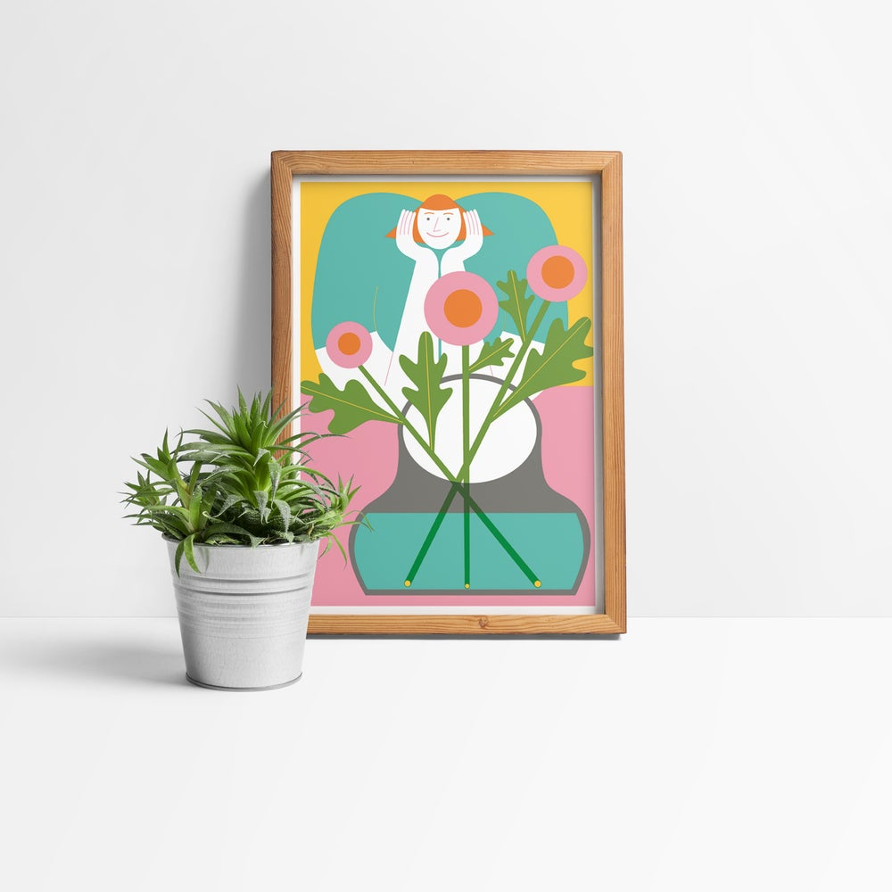 Image of Flowers + Smile – 12,2 x 17,6 cm