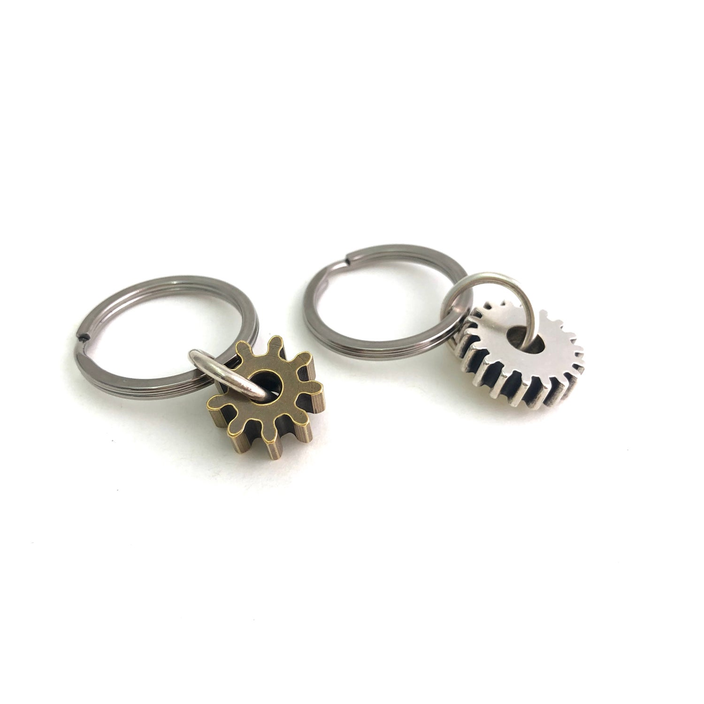 Image of gear key rings, keychain