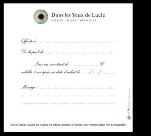 Image of *Carte Cadeau* Dans les Yeux de Lucie