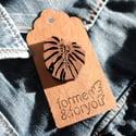 Wooden Monstera Leaf Badge