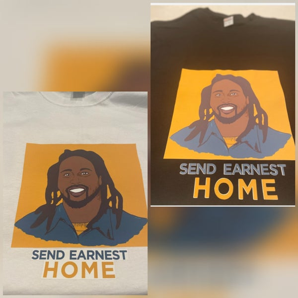 Image of PLUS SIZE SEND EARNEST HOME TSHIRT  CIRCLE PIC OR SQUARE  PIC