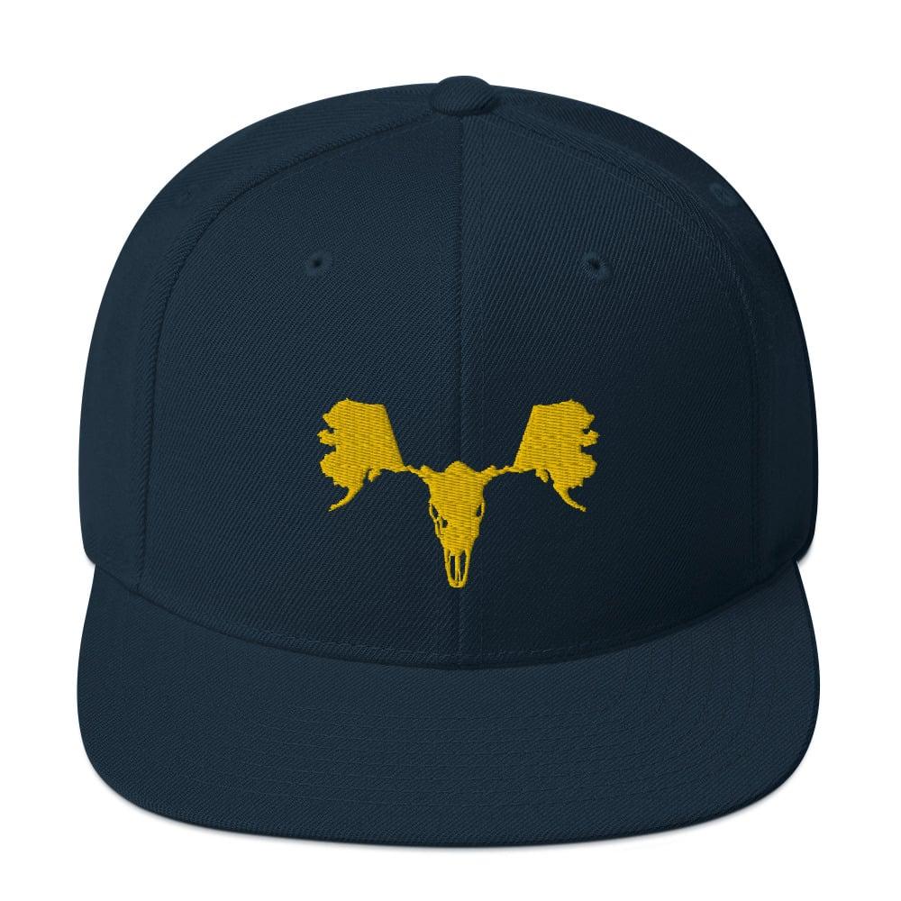 Image of Alaskull Moose - Yellow on Navy