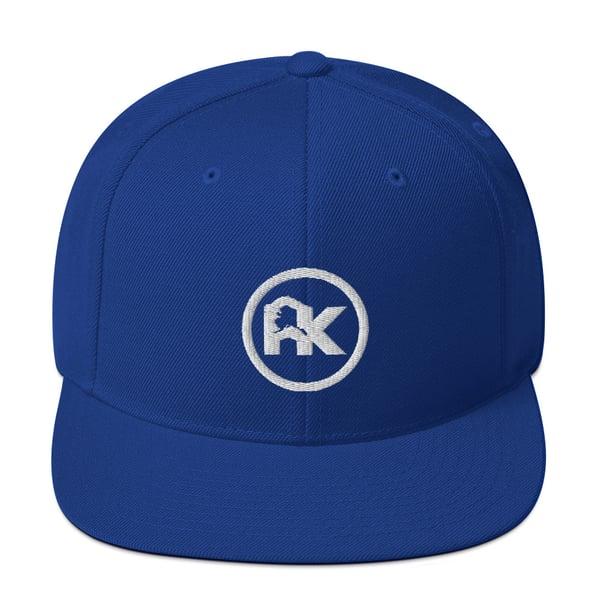 Image of CJAK logo - White on Royal Blue