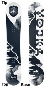 Image of 44º North Vodka Snowboard