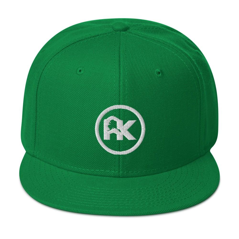 Image of CJAK logo - White on Green
