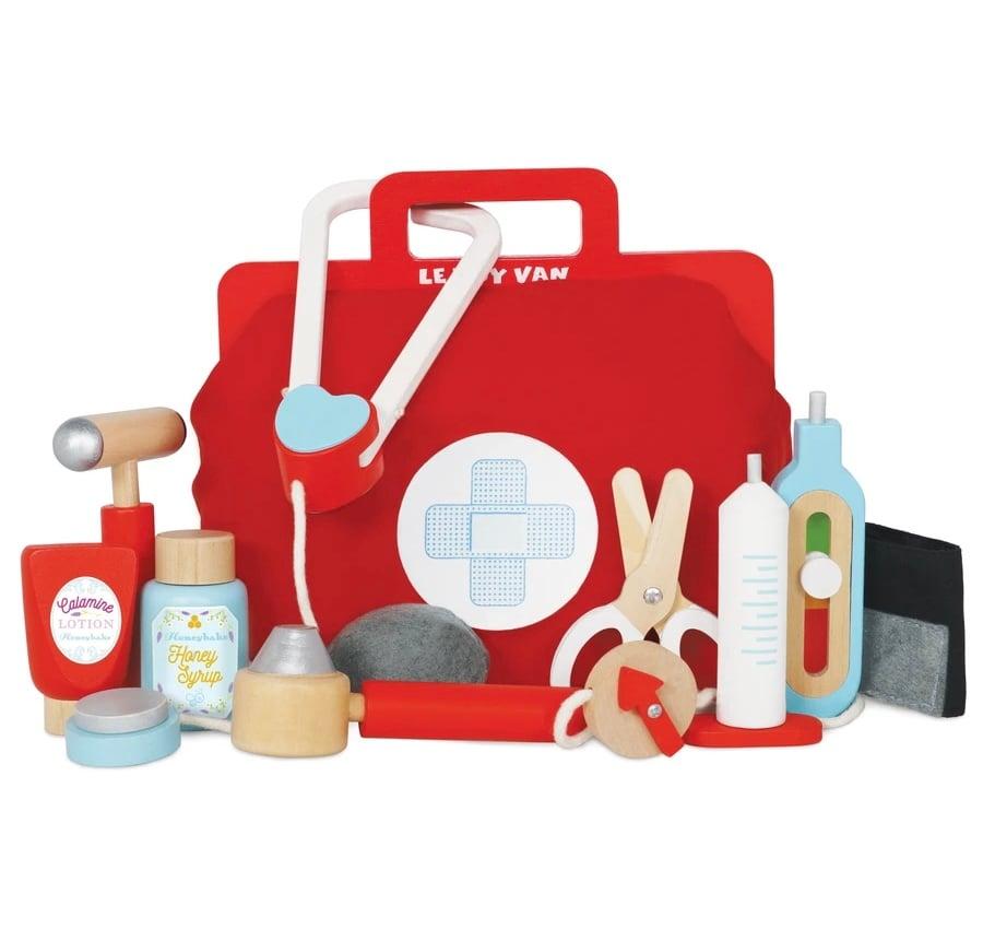 Image of Wooden Doctor's Medical Kit