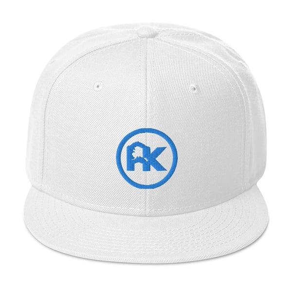 Image of CJAK logo - Sky Blue on White