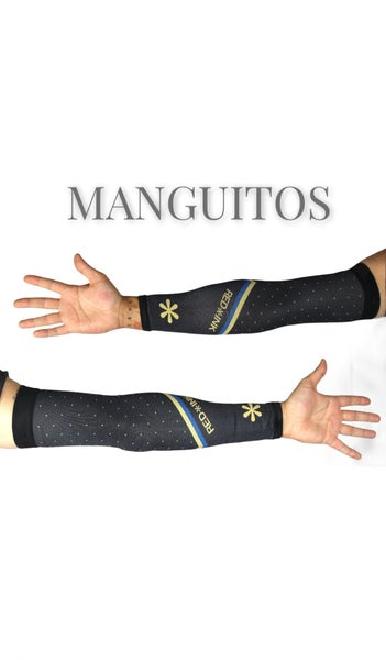 Image of MANGUITO TÉCNICO BLUE/GOLD