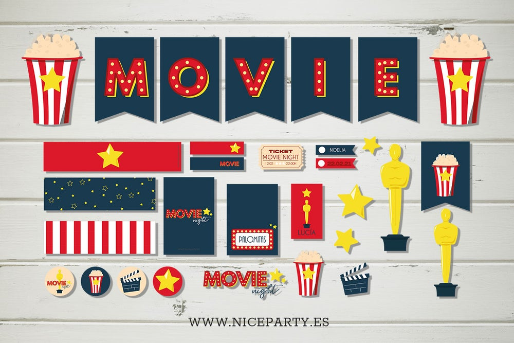 Image of Pack imprimible Movie night
