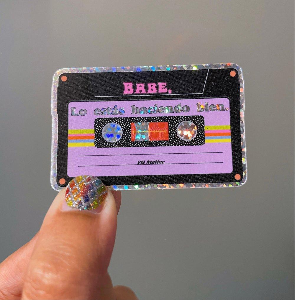 Image of Cassette Glitter Sticker