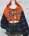 Reworked Plaiditudes Detroit Tigers Crop Hoodie