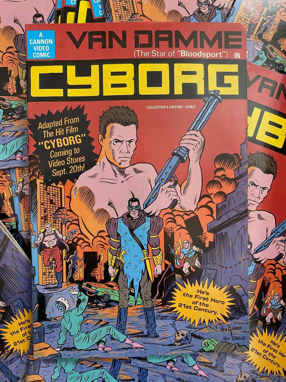 1991 CYBORG PROMOTIONAL COMIC BOOK- CANNON VIDEO COMICS