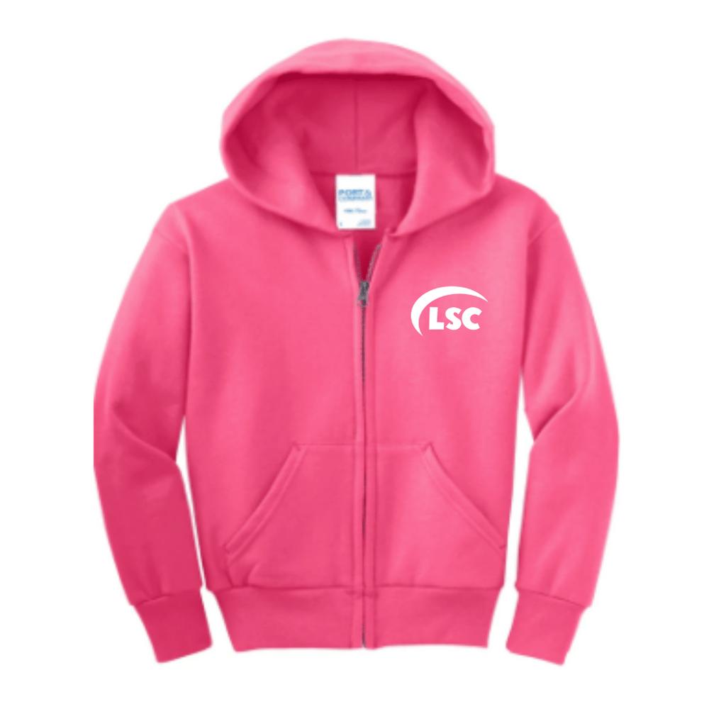 LSC Hot Pink Zip Up Hoodle