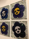 Faces of Goth Flower Coaster Pack