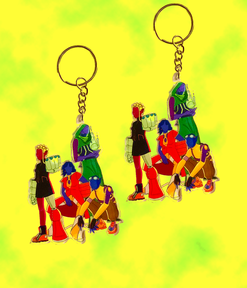 Image of DON'T EXPECT US TO SAVE YOU KEYCHAIN