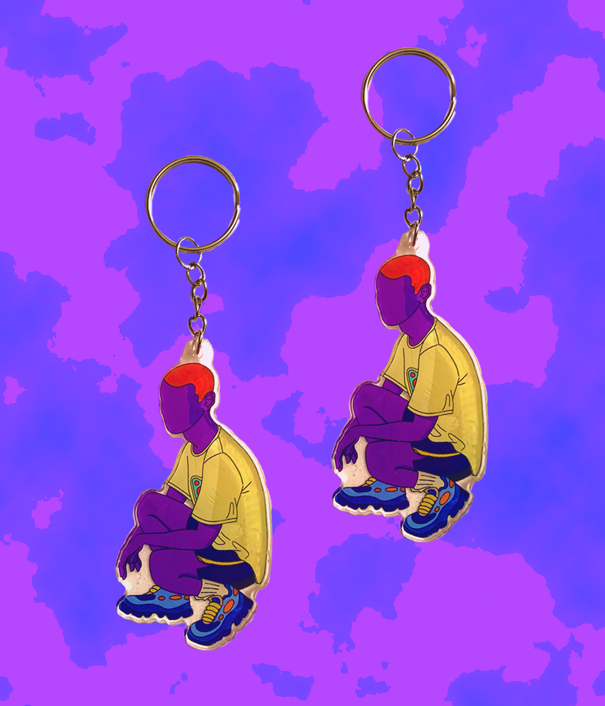Image of BLUE SNEAKERS KEYCHAIN