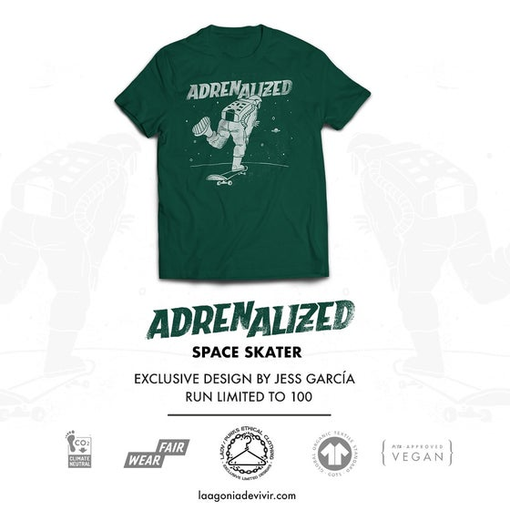 "Image of LADV_PEC05 - ADRENALIZED ""Space Skater"" Tshirt"