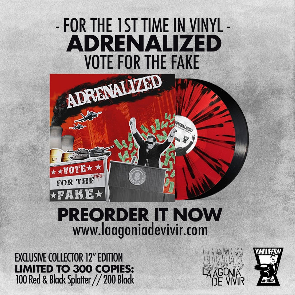 """Image of LADV149 - ADRENALIZED """"Vote for the Fake"""" LP REISSUE"""