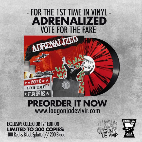 "Image of LADV149 - ADRENALIZED ""Vote for the Fake"" LP REISSUE"