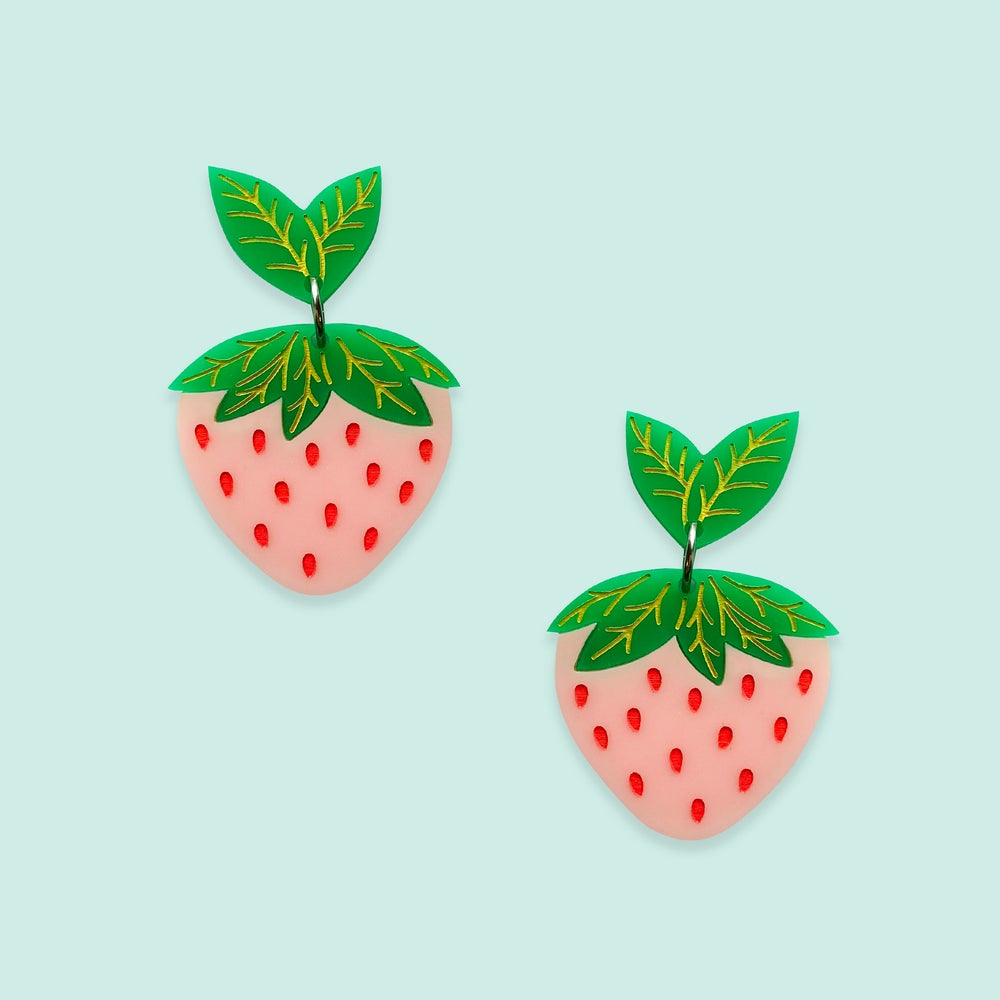 Image of Strawberry Midi (Peach-Pink/Emerald Green)