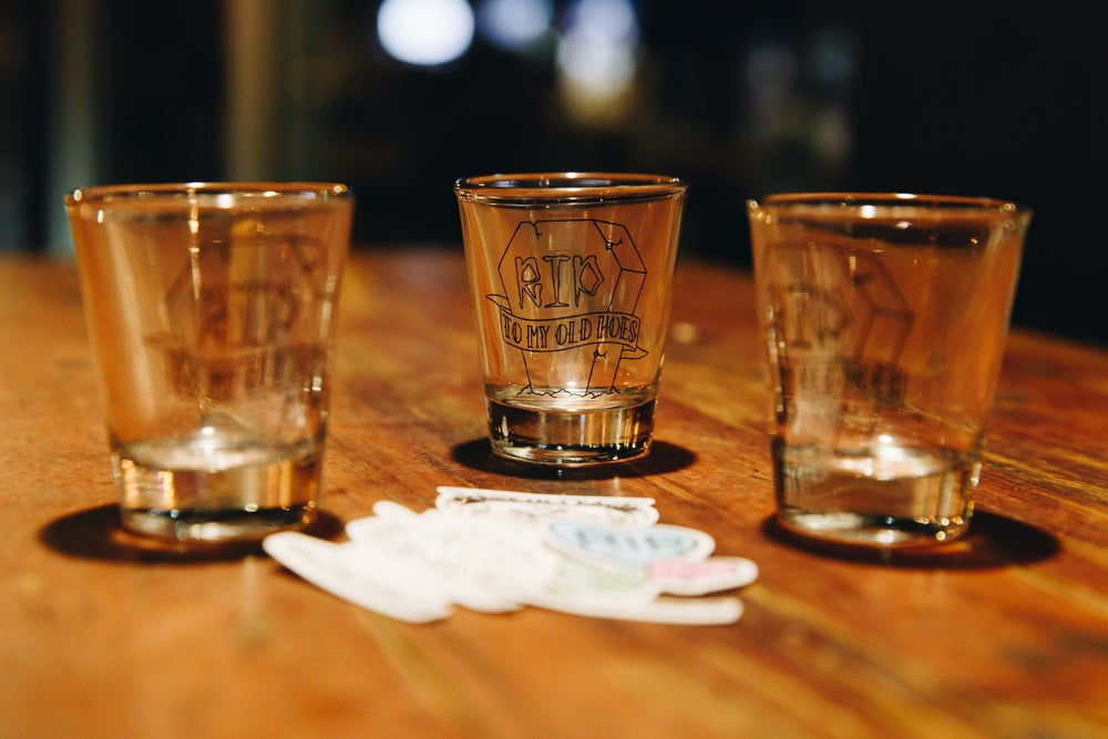 Image of TOMBSTONE SHOT GLASS